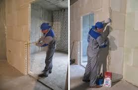 colocación de bloque de pared