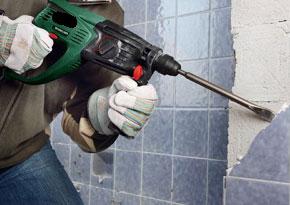demolición de azulejos viejos